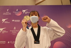 Chùm ảnh Trương Thị Kim Tuyền đại thắng vòng loại Olympic Tokyo
