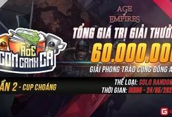 AoE Cơm Canh Cà Cúp Choáng lần 2: Lịch thi đấu và danh sách tuyển thủ