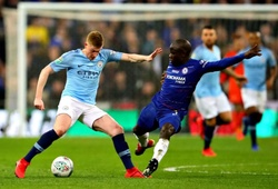 Đội hình ra sân Man City vs Chelsea: De Bruyne đối đầu Kante