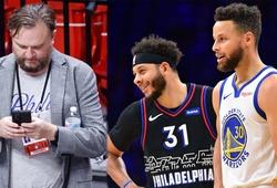 Chỉ vì đăng ảnh Stephen Curry chúc mừng em trai, chủ tịch 76ers bị phạt tiền tỷ