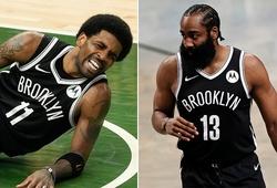 Trước lượt trận bản lề, Brooklyn Nets nhận tin xấu về Kyrie Irving và James Harden