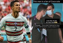 """Ronaldo bị nhân viên an ninh """"soi"""" giấy tờ trước khi vào sân"""