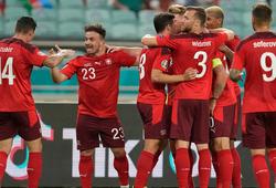 Thụy Sĩ tạm dẫn đầu nhóm các đội xếp thứ 3 tốt nhất EURO 2021