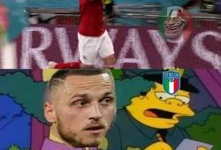 """Ảnh chế EURO 2021: Hỡi Arnautovic, đừng """"gáy"""" quá sớm, chỉ có... trút họa vào thân!"""