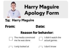 """Ảnh chế EURO: Người hâm mộ cúi đầu """"xin lỗi"""" Maguire"""