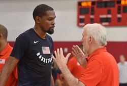 """HLV ĐT Mỹ phát cuồng Kevin Durant: """"Tôi sẽ khóc lóc và cầu xin cậu ấy thi đấu Olympic"""""""