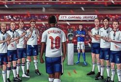 """David Beckham đứng vỗ tay chào đón """"nhà vô địch"""" Raheem Sterling"""
