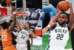 Giannis cùng Middleton sắm vai người hùng, Milwaukee Bucks quân bình NBA Finals 2-2