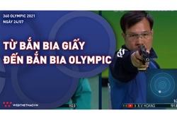 Từ nghịch cảnh tập bia giấy đến bắn bia điện tử Olympic của xạ thủ Hoàng Xuân Vinh