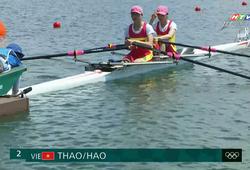 Kém 17 giây so với vòng loại, cặp đôi rowing Việt Nam rớt khỏi bán kết
