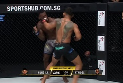 """""""Mãng xà"""" Aung La N Sang trở lại ngoạn mục đánh gục võ sĩ Brazil"""
