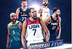 FIBA công bố đội hình tiêu biểu Olympic Tokyo: Không thể tranh cãi