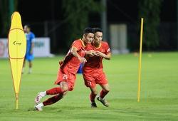 """U22 Việt Nam """"luyện công"""" dưới mưa, quyết giành vé dự VCK U23 châu Á 2022"""