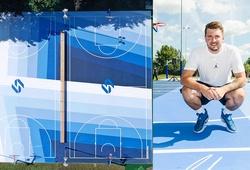 Luka Doncic tân trang lại sân bóng rổ tuổi thơ cực đẹp ở Slovenia