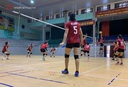 Bóng chuyền nữ Thái Bình tập luyện sẵn sàng cho Vòng 2 giải VĐQG
