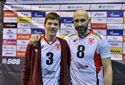 Cặp cha con đặc biệt cùng tham dự giải bóng chuyền Vô địch châu Âu