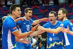 Đánh bại chủ nhà, Slovenia lọt vào chung kết bóng chuyền nam châu Âu