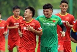 """U22 Việt Nam """"tươi hết cỡ"""" trong buổi tập hướng đến vòng loại U23 châu Á 2022"""