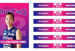 Lịch thi đấu bóng chuyền nữ VĐQG Nhật Bản 2021/2022 của Thanh Thúy