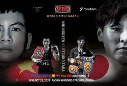 Xem trận tranh đai WBO thế giới Nguyễn Thị Thu Nhi vs Etsuko Tada ở đâu, kênh nào?