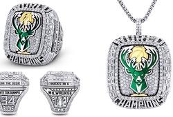Soi nhẫn vô địch của Milwaukee Bucks: 360 viên kim cương và nhiều điểm nhấn thú vị