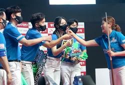 Thi đấu thăng hoa, các đội của Minh Cẩm, Phương Linh áp sát ngôi đầu giải PBA Team League Round 2021/2022