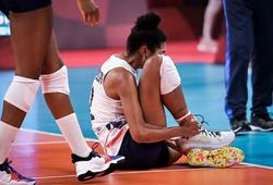 Đối chuyền số 1 chấn thương, bóng chuyền nữ Mỹ nhanh chóng sụp đổ