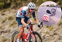 """Cú ôm cua """"tử thần"""" gãy rời xe của tay đua xe đạp Hà Lan"""
