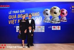 Gia đình Văn Quyết hội tụ ở Gala Quả bóng Vàng 2020