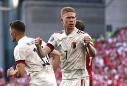 De Bruyne giúp Bỉ xoay chuyển tình thế ngoạn mục trước Đan Mạch