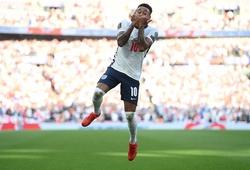 Lingard lập cú đúp cho tuyển Anh và ăn mừng theo phong cách Ronaldo