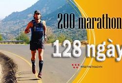 Chàng trai 31 tuổi chạy 200 marathon trong 128 ngày, đạt 12 triệu bước chân