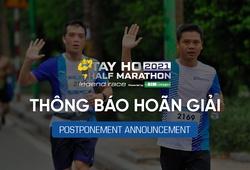 """Biến thể COVID-19"" buộc Tay Ho Half Marathon 2021 phải hoãn"