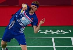 Kết quả cầu lông Olympic mới nhất: Tiến Minh chiến đấu kiên cường trước Antonsen