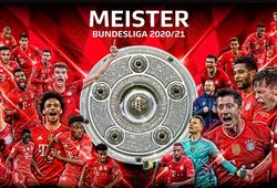 Bayern Munich lập kỷ lục Bundesliga về vô địch liên tiếp