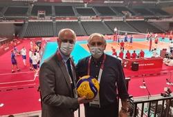 Những vị khách đặc biệt trên sân bóng chuyền Ariake Arena của Olympic Tokyo 2021