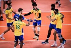 Ứng viên vô địch bóng chuyền nam - Brazil có chiến thắng dễ dàng