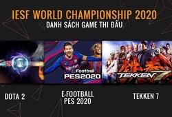 Giải Thể thao điện tử vô địch Thế giới 2020 có mặt tại Hà Nội