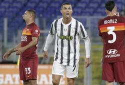 Ronaldo né tránh kỷ lục tiêu cực ở trận Juventus vs Roma