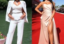 Bạn gái Ronaldo mắc lỗi về trang phục hy hữu tại Liên hoan phim