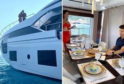 Ronaldo và bạn gái khoe cuộc sống sang chảnh trên du thuyền