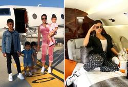 Bạn gái Ronaldo dùng phi cơ riêng đi phát quà Giáng sinh sớm