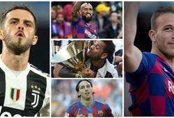 10 cầu thủ nổi tiếng từng khoác áo Barca và Juventus