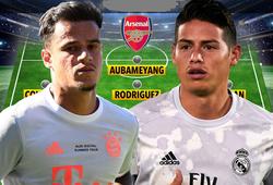 Đội hình Arsenal với Coutinho và 4 ngôi sao mới sẽ thế nào?