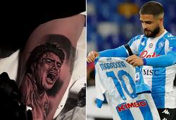 Ngôi sao Napoli khoe hình xăm Maradona ở Europa League