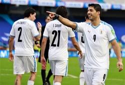 Luis Suarez gia tăng cách biệt với Messi ở vòng loại World Cup