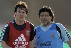 Khoảnh khắc hiếm hoi Messi sát cánh với Maradona ở tuyển Argentina