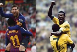 Pele gửi thông điệp chúc mừng Messi san bằng kỷ lục