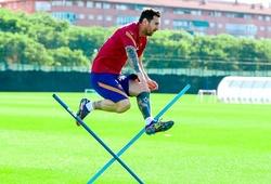 2 cử chỉ của Messi trong buổi tập khiến Barca hài lòng