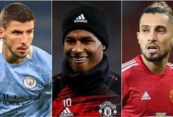 Man City áp đảo MU trong đội hình kết hợp ở trận derby